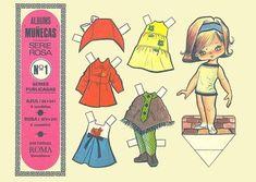 Muñecas vintage de papel para imprimir   Que lindo es recordar losdíasen quejugábamoscon estas muñecas de papel recortables ,de alguna...