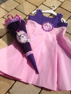 ♥ Luusmeitlifashion ♥: Kleid Elodie mit Empirchenoberteil Minischultüte Schultüte Einschulung Mädchenkleid Einschulungskleid Schnittmusterhttp://muggelchens-kuschelwear.blogspot.ch/2013/07/elpierchen.html