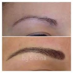 Hair Stroke Eyebrow Tattoo (first