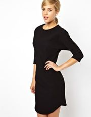 ASOS | ASOS Pencil Dress In Texture With Batwing Sleeve at ASOS