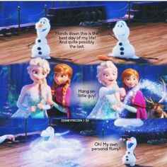 this is my favorite part Frozen Movie, Olaf Frozen, Disney Frozen, Frozen Stuff, Cute Disney Quotes, Funny Disney Memes, Favorite Movie Quotes, Childhood Movies, Build A Snowman