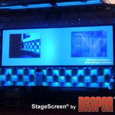 "Draper StageScreen Matt White Portable Projection Screen Size / Format: 150"" diagonal / 4:3"
