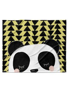 Panda Velveteen Blanket by Kavka Designs at Gilt