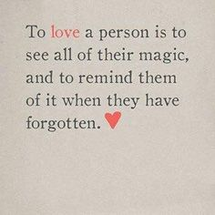 The way love is.
