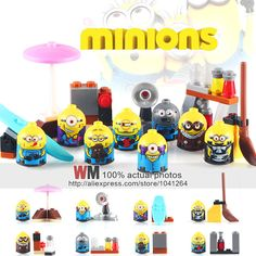 8pcs/set 2017 New X0141 Minions Despicable Me Cartoon Anime Building Blocks Bricks Children Toys Gifts-in Blocks from Toys & Hobbies on Aliexpress.com   Alibaba Group