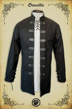 Sir Samuel Jacket medieval clothing for men LARP costume and cosplay Mens Garb, Chinese Shirt, Landsknecht, Victorian Costume, Medieval Clothing, Just In Case, Guys And Girls, Vintage, How To Wear