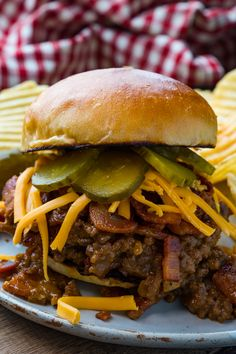 Bacon Cheeseburger Sloppy Joes Beef Recipes, Healthy Recipes, Cooking Recipes, Beef Sauce, Dude Food, Burger Toppings, Recipe Cover, Healthy Weeknight Meals, Sloppy Joes Recipe