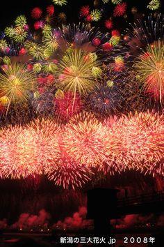 JAPAN Niigata Nagaoka Festival Fireworks [2008新潟三大花火フォトコンテストグランプリ 長岡花火☆石田さん]