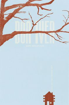 Bon Iver Letterpress Poster by Bennett Holzworth
