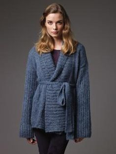 Caravan Knitted Coat with tie belt.