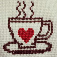 Cross Stitch Heart, Cross Stitch Cards, Cross Stitch Borders, Cross Stitching, Cross Stitch Patterns, Wool Embroidery, Hand Embroidery Stitches, Hand Embroidery Designs, Cross Stitch Embroidery