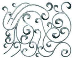 BUY $200 GET 10% OFF - DIY Wall Decor 8 Made of hand forged steel, this is a left horizontal piece designed with amazing scroll work and could easily be used together as a matched set with the right piece in a larger area in a room setting perhaps on a large wall. This piece can be painted to enhance any decor and can also be used as a window screen, wall hanging, gate or even line with fabric. H: 29-1/2       W :27-1/4      Weight:  34.40 lbs