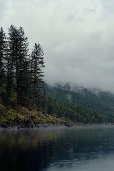 misty lakes