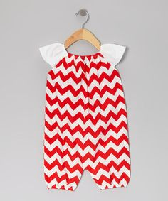 Take a look at this Red Zigzag Bubble Romper - Infant & Toddler by Barefoot Childrens Clothing on #zulily today!