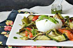 Salade mozzarella, recette plancha de légumes grillés et pesto basilic
