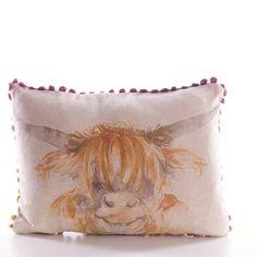 Highland Cow, Mini Cushion by Voyage maison