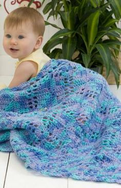 Squares n Squares Baby Blanket Free Crochet Pattern from Red Heart Yarns