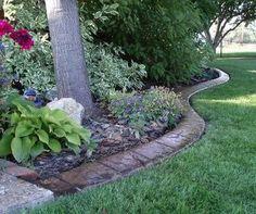 basic landscape edging options yard of the month pinterest