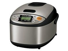 Black & Stainless Steel 3-c. Micom Rice Cooker & Warmer by Zojirushi at Cooking.com