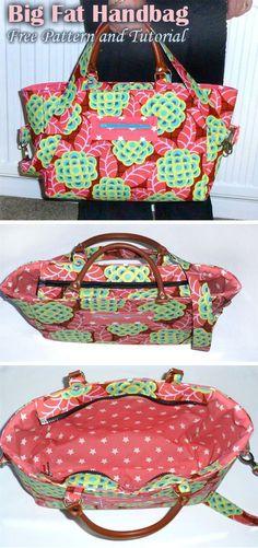 Big Fat Gorgeous Handbag Free Tutorial – Purses And Handbags Diy Diy Bags Purses, Purses And Handbags, Fashion Handbags, Cheap Handbags, Cheap Purses, Gucci Handbags, Handbags Online, Luxury Handbags, Brown Handbags