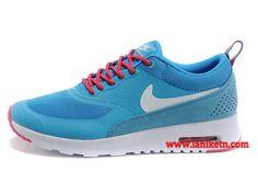 the best attitude 3d761 18ca1 Nike Air Max Thea Print Chaussure Pour Femme Bleu Argent Blanc Rouge  599408-602