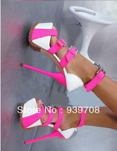 2014 New Gladiator Women Sexy Buckle Strap Summer Sandals Ultra 16cm High Heels Platform Pumps Shoes Woman $6 070,63