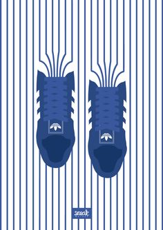 Shoes on STRIPES A tribut to Adidas Superstar. Sneaker Illustration © SneakwalkerSTRIPES A tribut to Adidas Superstar. Creative Advertising, Advertising Design, Branding, Sneaker Posters, Graphisches Design, Poster Design, Gig Poster, Adidas Superstar, Grafik Design
