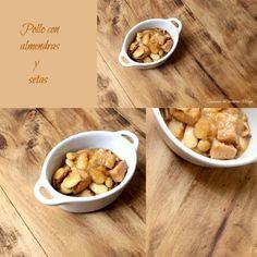 COCINANDO CON THERMOMIX MALAGA: Pollo con almendras y setas