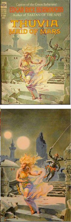 ROY G. KRENKEL Jr. - Thuvia maid of Mars by Edgar Rice Burroughs - 1962 Ace Science Fiction Classic F-168