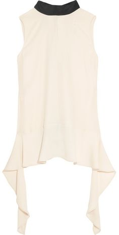 Shop on-sale Ruffled crepe blouse. Browse other discount designer Sleeveless Top & more luxury fashion pieces at THE OUTNET Jennifer Fisher, Sleeveless Blouse, Stella Mccartney, Luxury Fashion, Just For You, Ivory, Stylish