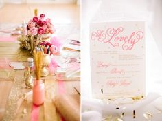 FEATURED on 100 LAYER CAKE // PINK, GOLD, & GLITTER / OH, LOVELY – A VALENTINES PARTY » Haley Sheffield | Destination Wedding Photography