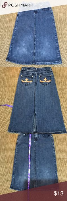 9ddd3f3927 Great UC Girls denim skirt Cato Pocket bling Excellent condition girls Cato  maxi skirt in size