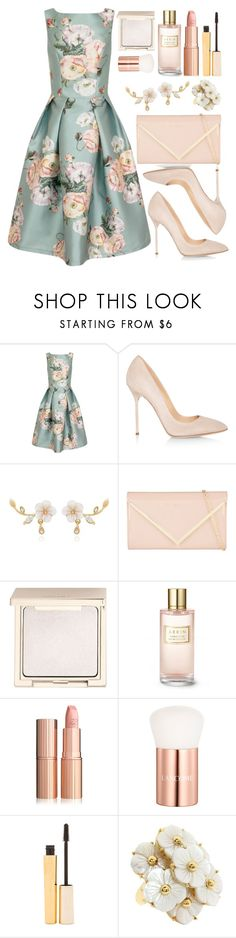 """""""Untitled #4497"""" by natalyasidunova ❤ liked on Polyvore featuring Chi Chi, Sergio Rossi, ALDO, Jouer, Estée Lauder, Lancôme, Stila and Kate Spade"""