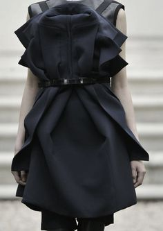 Dress with sculpted layers - deconstructed tailoring; fashion details // Rad Hourani F/W 2013 Jordan