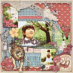 the Magic of OZ *Graphic by Yuka Hino Graphic 45, Scrapbook Page Layouts, Scrapbook Pages, Scrapbooking Ideas, Magic Of Oz, How To Make Banners, May Arts, Handmade Crafts, Altered Art