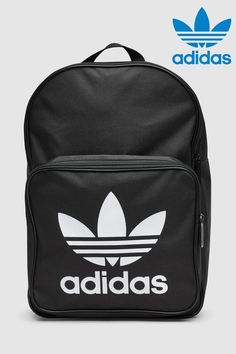 4e8c26bac3f04 Girls adidas Originals Black Trefoil Backpack - Black