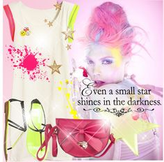 """""""Even a small star shines in the darkness."""" by sandrayara ❤ liked on Polyvore"""