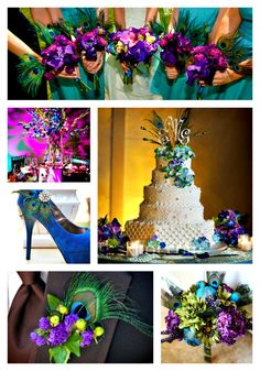 Plush Peacock Inspiration on itsabrideslife.com/Peacock Wedding Ideas