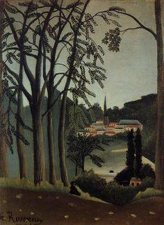 Henri Rousseau, View of Saint Cloud, 1909