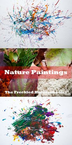 1000 images about kids 39 crafts natural materials on for Painting with nature items