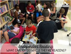 Independent Reading Conferences-allow all your students to have independent reading everyday, not just a couple times a week at a center. Conference and individualize your instruction while they're reading.