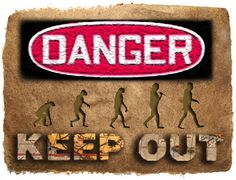"Joe Burns. ""Danger, Keep Out"", 2012, Digital Image. A response to reactions and fears of schools with regard to the internet."