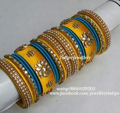 Silk Thread Bangles Design, Silk Thread Necklace, Silk Bangles, Bridal Bangles, Thread Jewellery, Silver Bracelets, Antique Jewellery Designs, Ankle Jewelry, Bangle Set