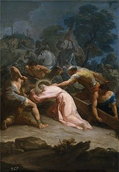 Oil Painting Giaquinto Corrado Cristo Camino Del Calvario Ca 1754  Printing On Polyster Canvas  24 X 35 Inch  61 X 88 Cm the Best Game Room Decoration And Home Artwork And Gifts Is This Reproductions Art Decorative Prints On Canvas -- See this great product.