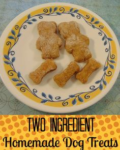 Looking to feed your furry friend something nutritious and delicious? Check out these Two Ingredient Homemade Dog Treats! They are easy to make too!