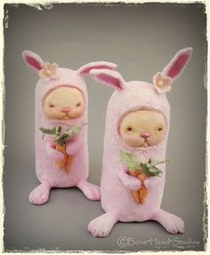 Easter , art doll , folk art , holiday , Easter ornaments ,bunny , Pinky , Easter decor , Spring
