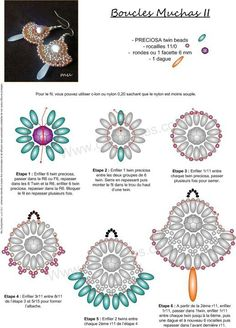 Beaded Jewelry free bead weaving instructions earrings uses super duo twin beads Seed Bead Tutorials, Free Beading Tutorials, Beading Patterns Free, Beaded Jewelry Patterns, Bracelet Patterns, Weaving Patterns, Free Pattern, Bead Patterns, Super Duo Beads