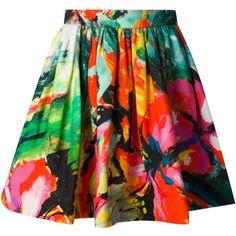 Marco Bologna floral print skater skirt found on Polyvore