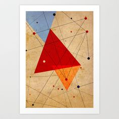 Reminds me of an #Eames print <3 - knot Art Print by Three Lives Left