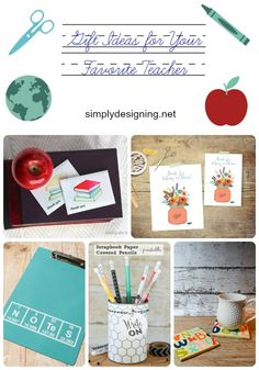 My favorite gift ideas for teachers by Simply Designing